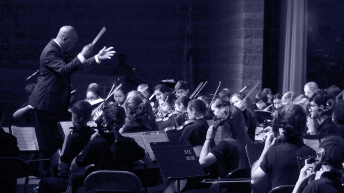 charles bowling conducts westland orchestra from woodleywonderworks